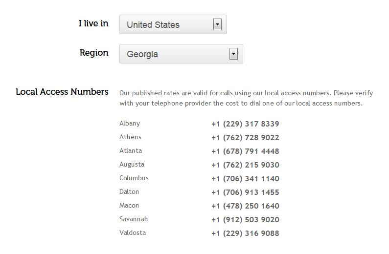 KeepCalling local access numbers